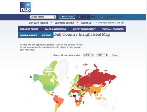 D&B Dynamic World Risk Map